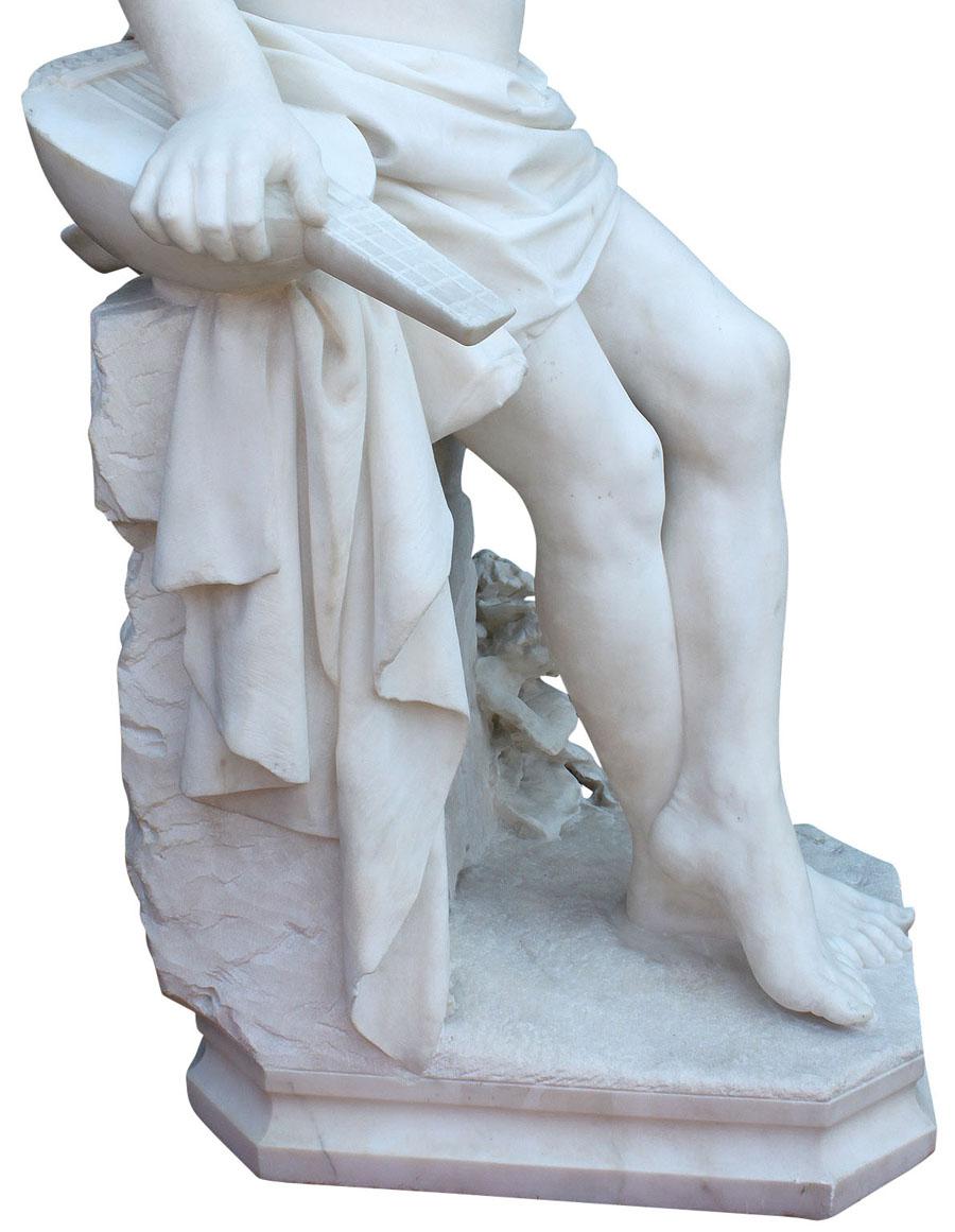 Carrara Marble Sculpture by Laure Hayman - Nouveau Deco Arts